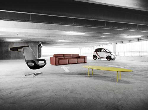 Kolekce Smartville a auto Signature Smart Fortwo Foto: BoConcept, oficiální zdroj