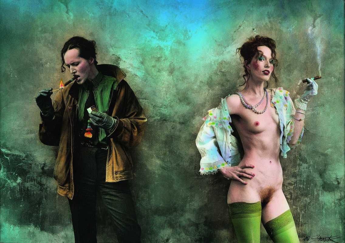 Jan Saudek - Pimp & Hooker, 2001 Foto: ArtForum, oficiální zdroj