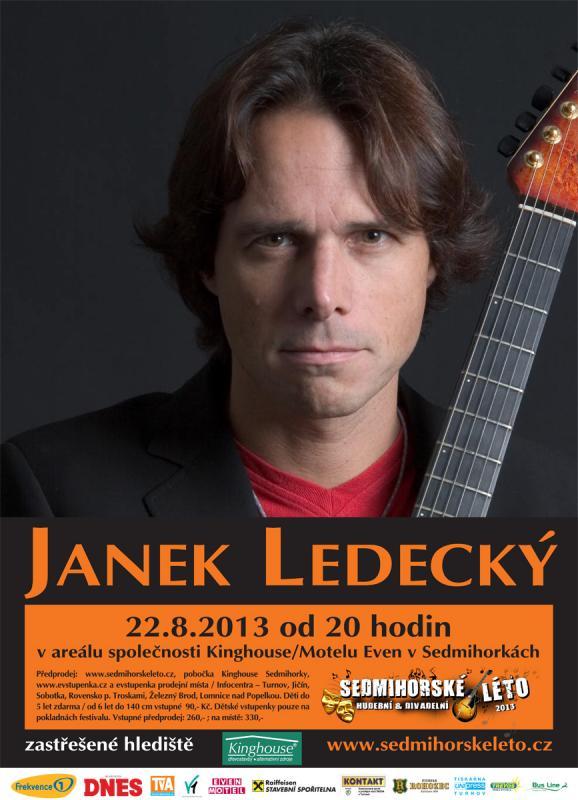 Koncert Janka Ledeckého na festivalu Sedmihorské léto 2013 Oficiální zdroj: Sedmihorské léto