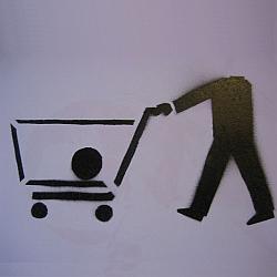 Stencil shopping cart Zdroj:Wikimedia Commons, autor Ecureuil espagnol