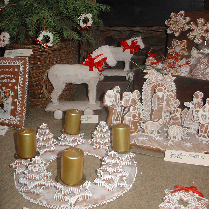 Perníky na výstavě U vánočního stolu Foto: Zuzana Ottová, e-Newspeak