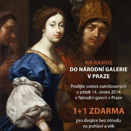 plakát k akci Na rande do Národní galerie v Praze Paris a Helena - Karel Škréta, ze sbírek NG v Praze Foto: NG v Praze, oficiální zdroj