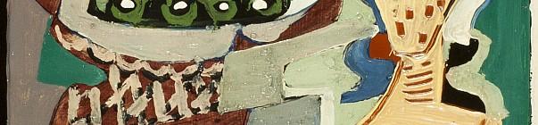 Dorotheum 1. aukce 2014, Emil Filla - Zátiší s hroznem a pohárem Foto archiv Dorotheum, oficiální zdroj