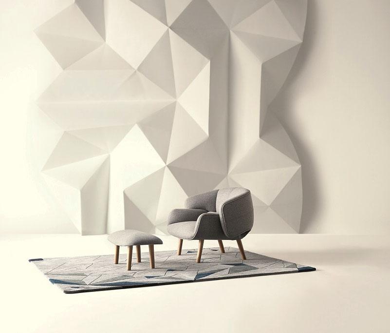 Kolekce Fusion inspirovaná origami, kterou navrh pro BoConcept japonský designer Oki Sato ze studia Neno Foto: BoConcept, oficiální zdroj