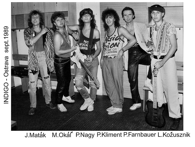 Peter Nagy a Indigo - foto z koncertu v roce 1989 Foto: Kloboukfilm, oficiální zdroj
