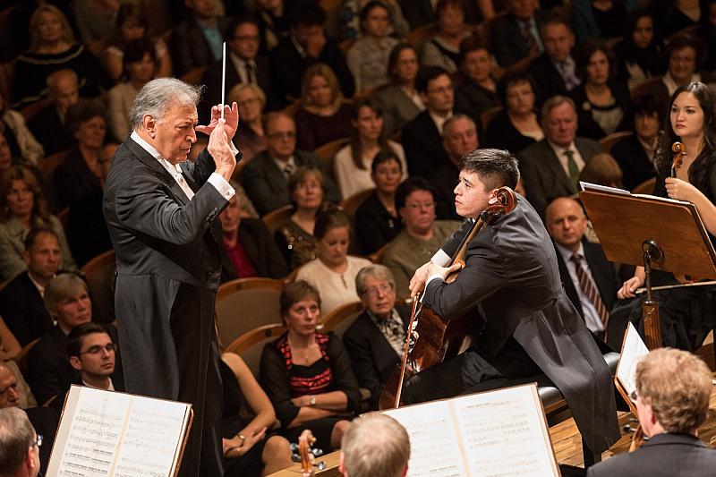 Zubin Mehta a Pavel Sinagl Foto: Dvořákova Praha, oficiální zdroj