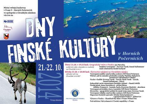 plakát Dny finské kultury Oficiální zdroj: Chvalský zámek
