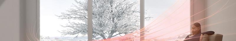Simulace směru proudění vzduchu od sloupového ventilátoru Dyson AM05 Foto: Dyson, oficiální zdroj
