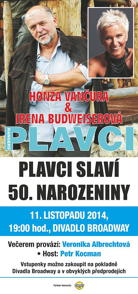 Plakát koncertu skupiny Plavci Oficiální zdroj: Plavci