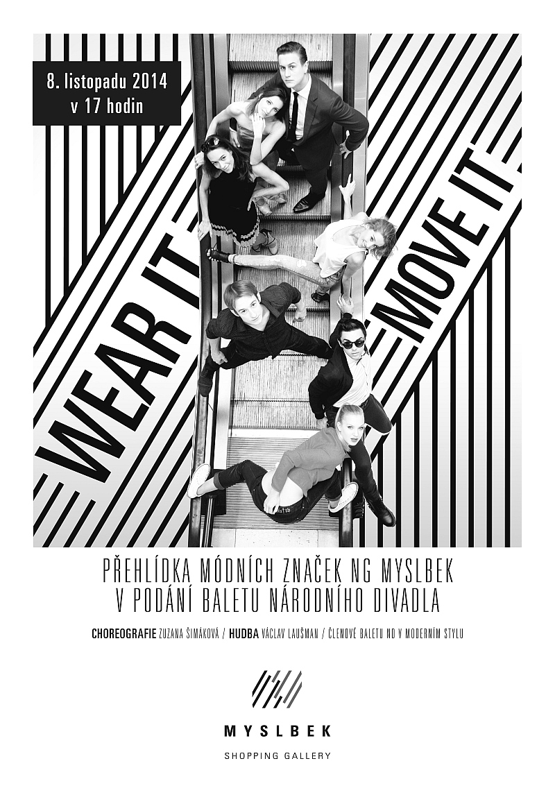 Módní přehlídka se sólisty Baletu Národního divadla Foto: NG Myslbek, oficiální zdroj