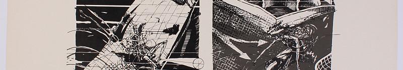 Rittstein Michael - Bez názvu, signováno a datováno vpravo dole, litografie/papír, 30,5 x 41 cm, vyvolávací cena 2 000 Kč Foto: archiv Dorotheum, oficiální zdroj