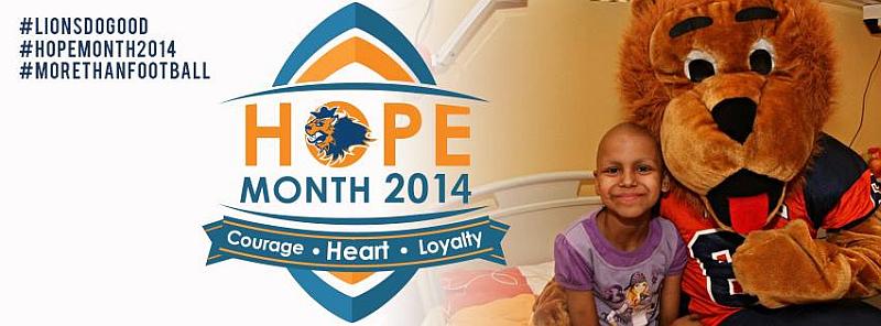Plakát projektu HOPE MONTH  Oficiální zdroj: Prague Lions