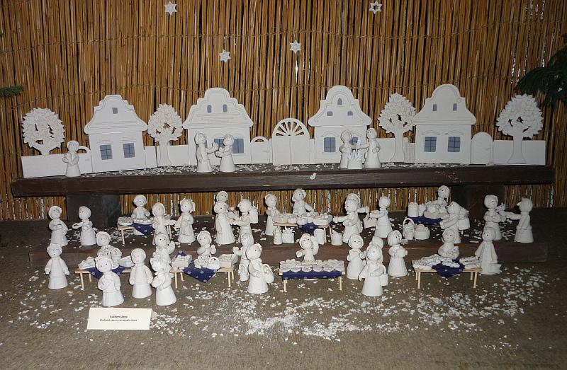 Vánoční výstava v Botanické zahradě: Jana Bužková - Betlém ze slaného těsta Foto: e-Newspeak