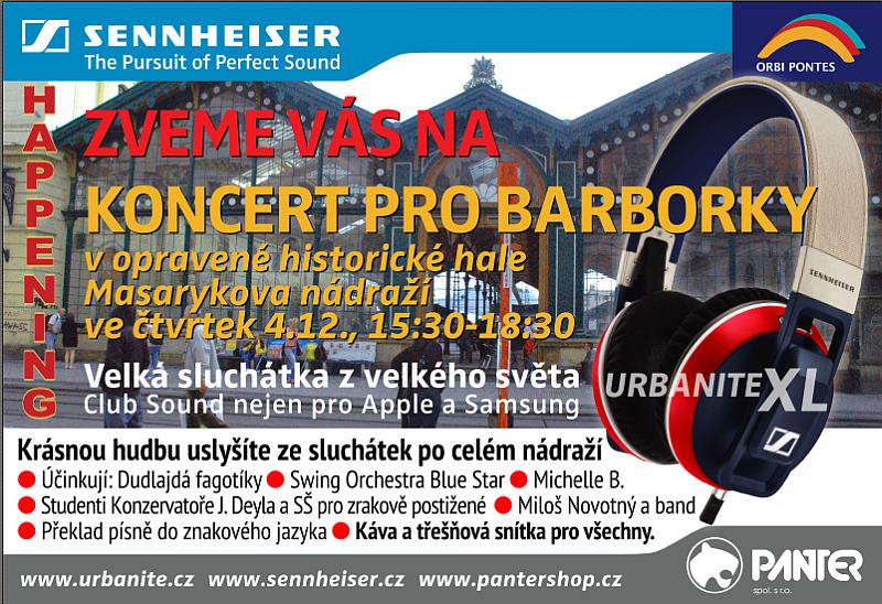 Plakát Koncertu pro Barborky Oficiální zdroj: Panter