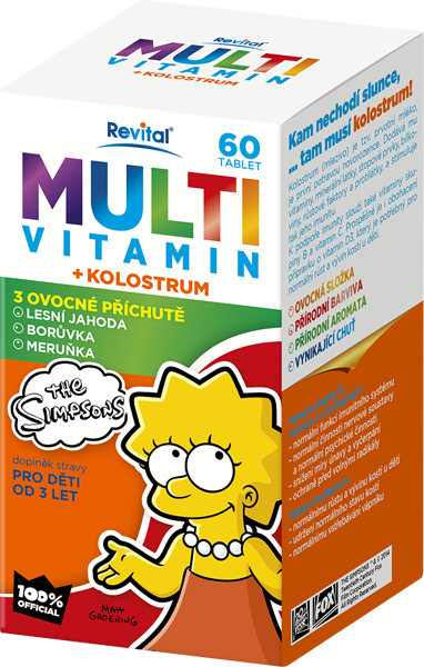 The Simpsons Multivitamin + kolostrum   Foto: Revital, oficiální zdroj