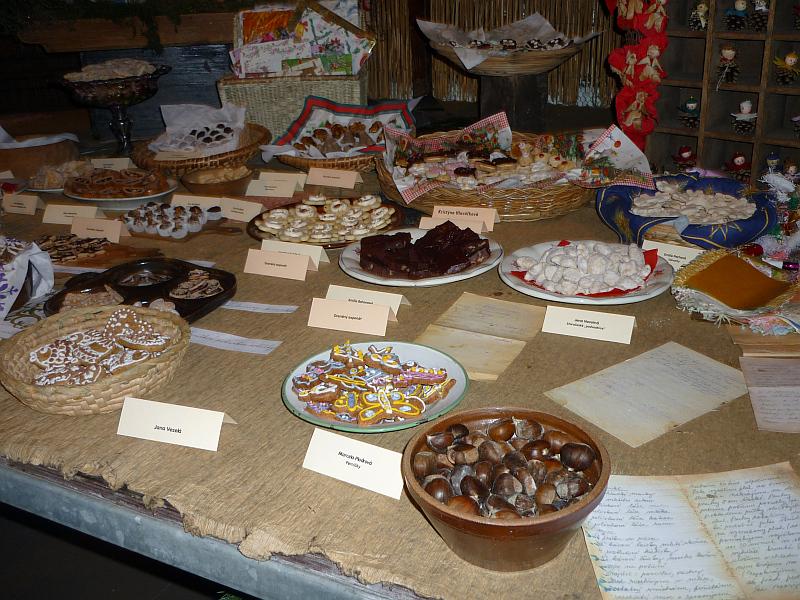 Vánoční výstava v Botanické zahradě - cukroví finalistů soutěže Foto: e-Newspeak