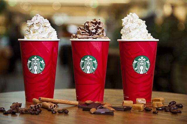 Vánoční horké nápoje Starbucks Foto: Starbucks, oficiální zdroj