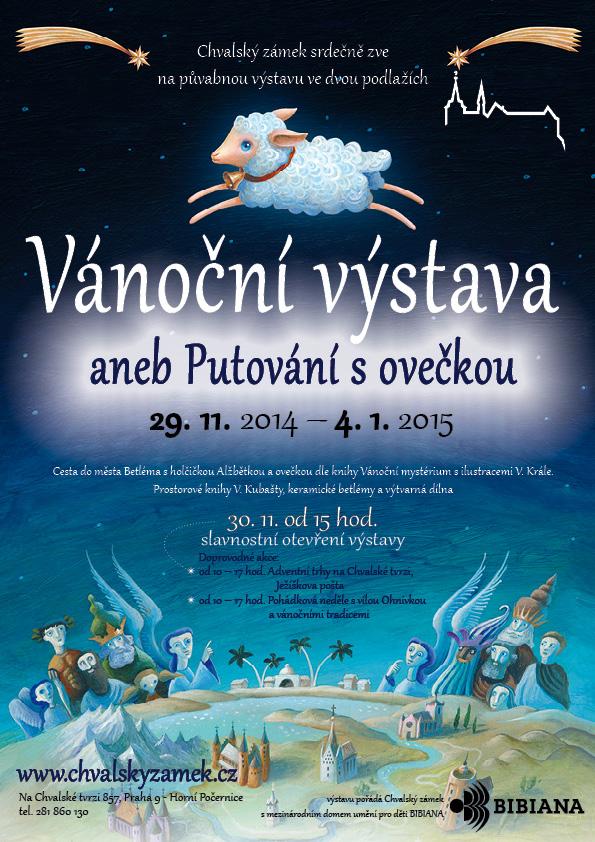 Plakát Vánoční výstavy aneb Putování s ovečkou Foto: Chvalský zámek, oficiální zdroj