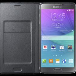 LED flipové pouzdro s kapsou Samsung_Front-open_gray_Standard_Online_P