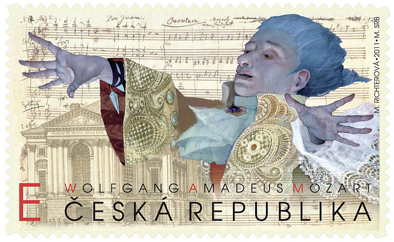 ArtForum: Marina Richterová - W.A.Mozart, návrh druhé nejkrásnější známky světa za rok 2011  Foto: ArtForum, oficiální zdroj
