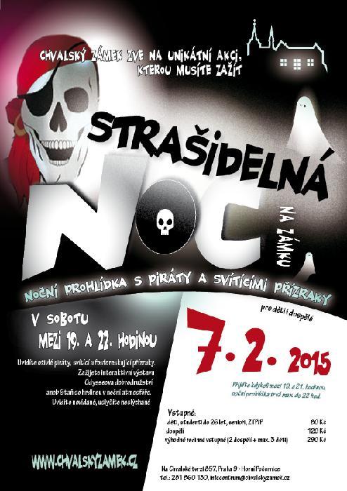 Strašidelná noc - plakát Oficiální zdroj: Chvalský zámek