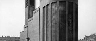 Pražský funcionalismus: Kostel sv. Václava ve Vršovicích, navržený architektem Josefem Gočárem Oficiální zdroj: GJF