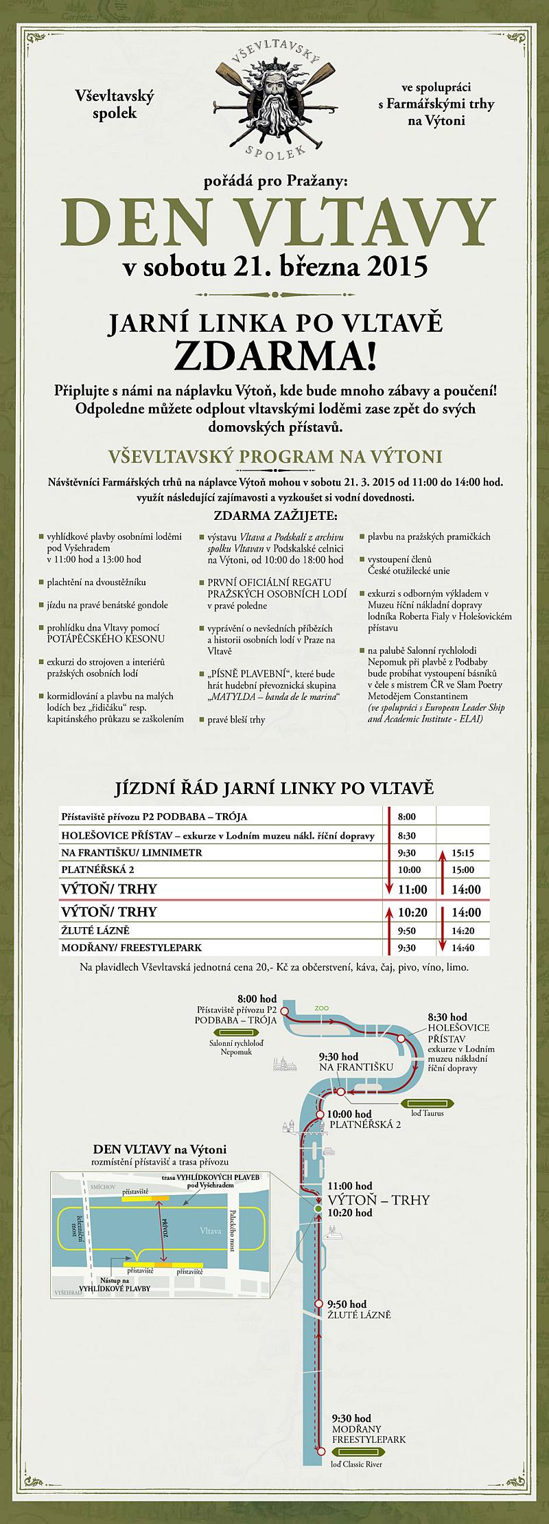 leták Den Vltavy Oficiální zdroj: MHMP