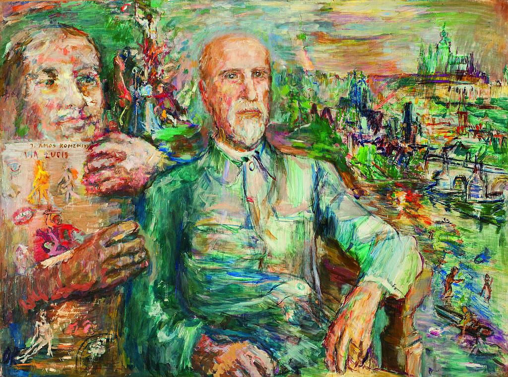 Oskar Kokoschka - Portrét TGM Foto: © 2015 Národní galerie v Praze, oficiální zdroj