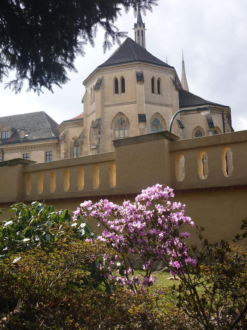 Jarní výstava skalniček: Azalka s Emauzským klášterem Foto: e-Newspeak