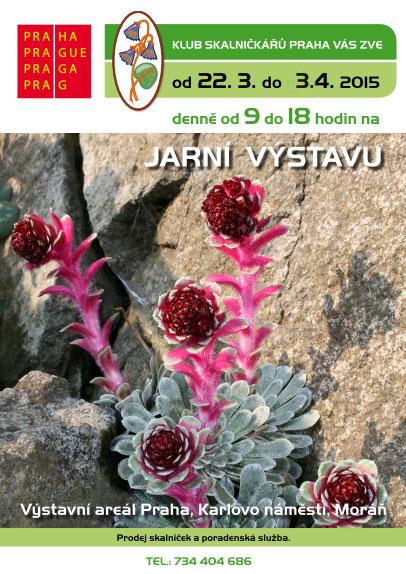 Jarní výstava skalniček - plakát Oficiální zdroj: Klub skalničkářů Praha
