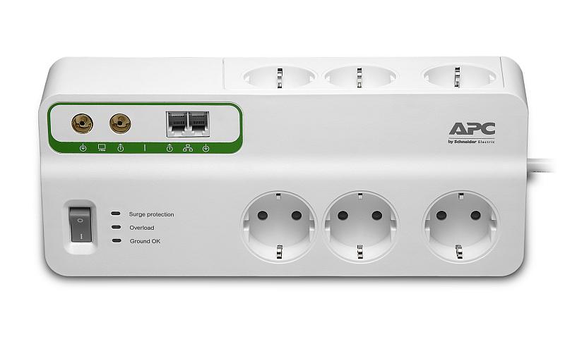 Přepěťová ochrana značky APC by Schneider Electric Foto: Schneider Electric, oficiální zdroj