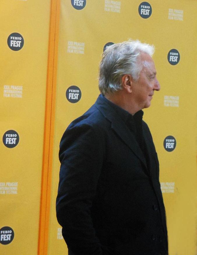 Alan Rickman před zahájením tiskové konference Febiofestu Foto: e-Newspeak
