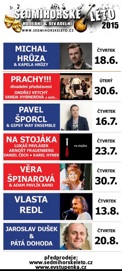 Sedmihorské léto 2015 - plakát s programem Oficiální zdroj: Sedmihorské léto