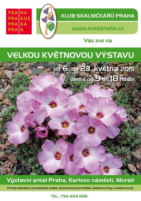 Plakát 46. výstavy skalniček Oficiální zdroj: KSP