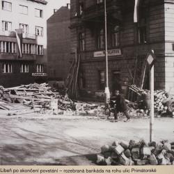 Libeň po skončení povstání, foto Josef Voříšek, MMP