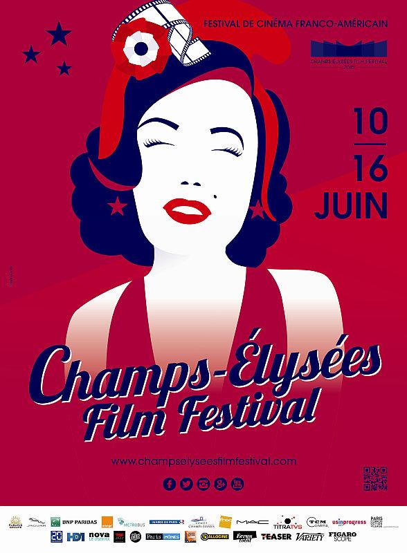 Plakát Champs-Élysées Film Festival 2015 Oficiální zdroj Champs-Élysées Film Festival
