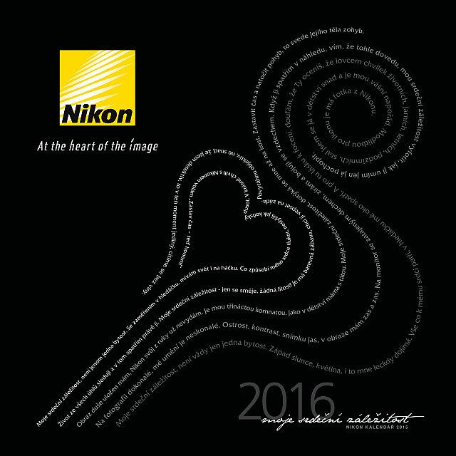 Titulní strana budoucího kalendáře Nikon 2016, v němž budou prezentovány nejlepší fotografie soutěže Oficiální zdroj: Nikon