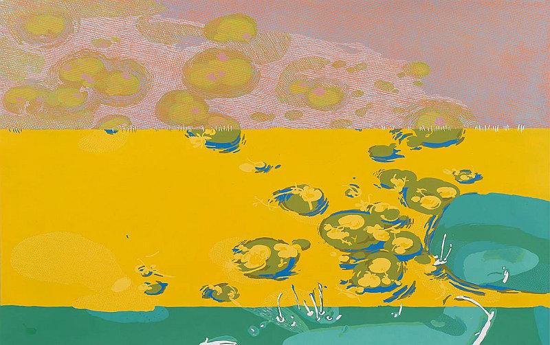 Ivo Křen ŽLUTÁ ŘEKA YELLOW RIVER 2006 linocut / linoryt 75 x 120 cm Foto: ArtForum, oficiální zdroj