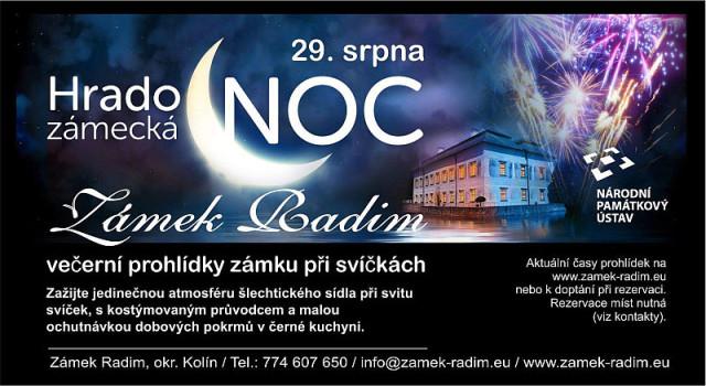 Hradozámecká noc na Zámku Radim Oficiální zdroj: Zámek Radim