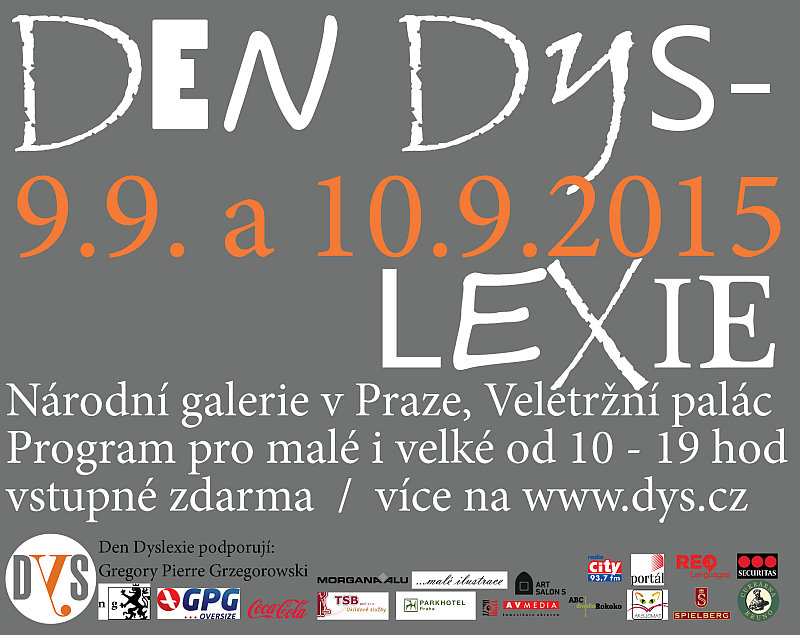 Den dyslexie- plakát Oficiální zdroj: DYS