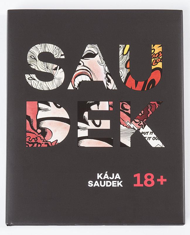 Kája Saudek: 18+, přední strana knižního přebalu Foto: Galerie Art Salon S, oficiální zdroj