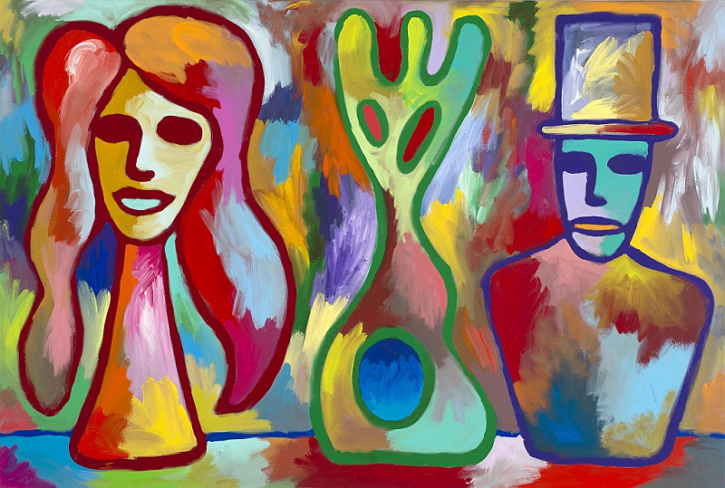 Charles Thomson: Man, Woman, Mask Foto: Art & Event Gallery, oficiální zdroj