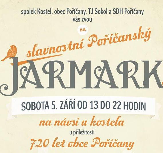 Poříčanský jarmark - plakát Oficiální zdroj: Kostel o.s.