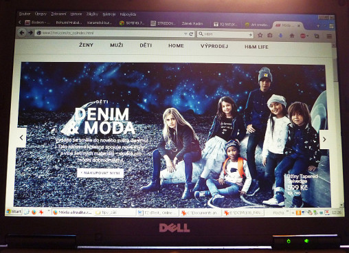 stránka e-shopu H&M Foto: e-Newspeak