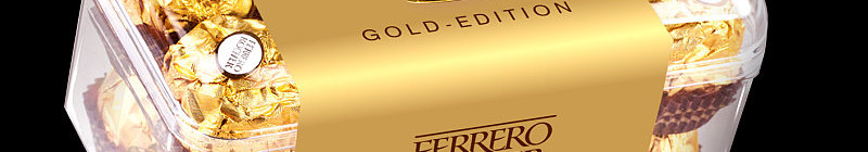Pralinky pralinkami Ferrero Rocher Gold Edition Foto: Ferrero, oficiální zdroj