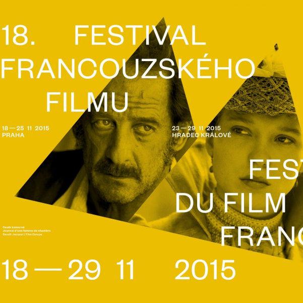 Vizuál FFF s fotografiemi hlavních protagonistů filmu Deník komorné Léo Seydoux, Vincentem Lindonem Oficiální zdroj: Francouzský institut v Praze