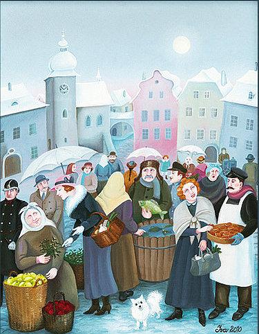 Vánoční výstava Ivy Hüttnerové - plakát Oficiální zdroj: Chvalský zámek