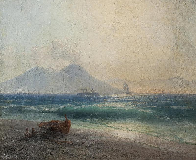 Aukce Dorothea: Ivan K. Ajvazovskij - Pohled na Vesuv, olej na plátně 1891 Foto: archiv Dorotheum