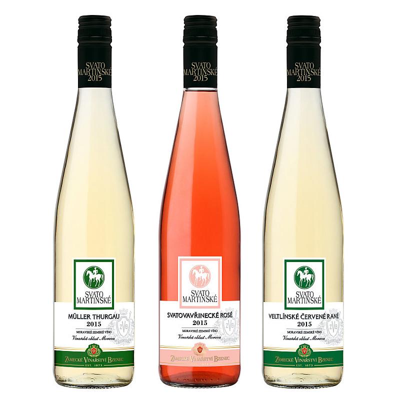 Svatomartinská kolekce: Müller Thurgau, Svatovavřinecké rosé, Veltlínské červené rané Foto: ZVB, oficiální zdroj