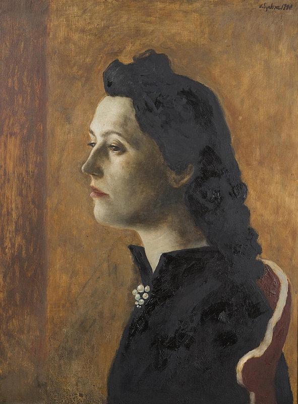 Aukce Dorothea: Vladimír Sychra - Portrét dámy, olej na dřevě, 57 x 44 cm, 1940 Foto: archiv Dorotheum